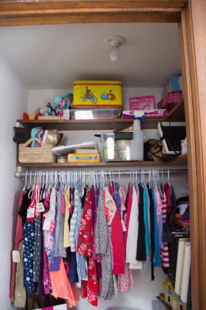 Girl Closet Before