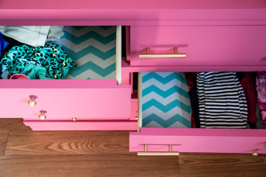Pink and Blue Girls Dresser