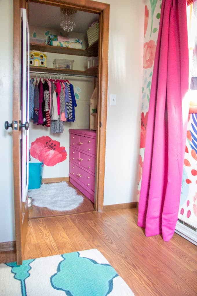 Bright and Fun Modern Girls Closet