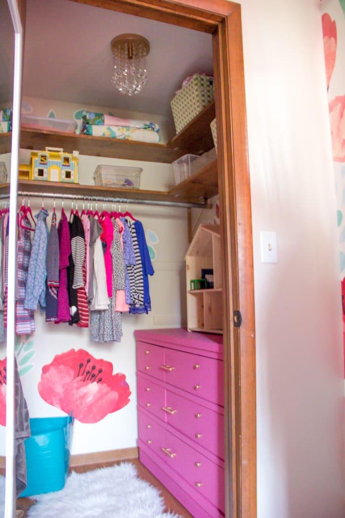Bright Modern Girls Closet