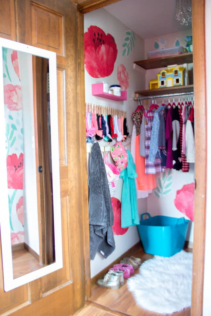 Bright And Fun Girls Walk In Closet