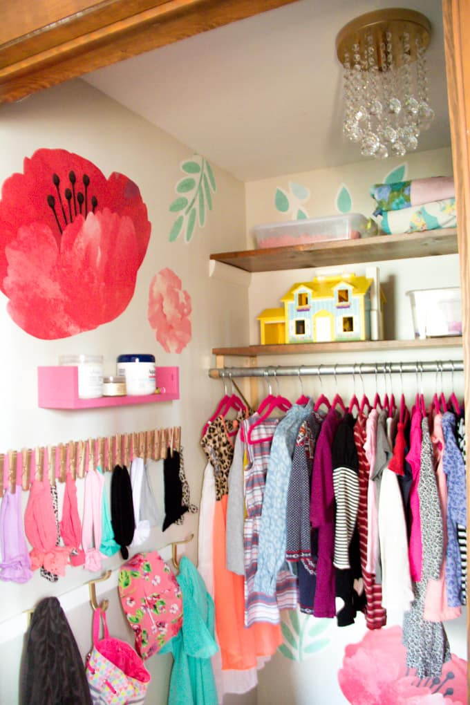Organized Kids Walk In Closet