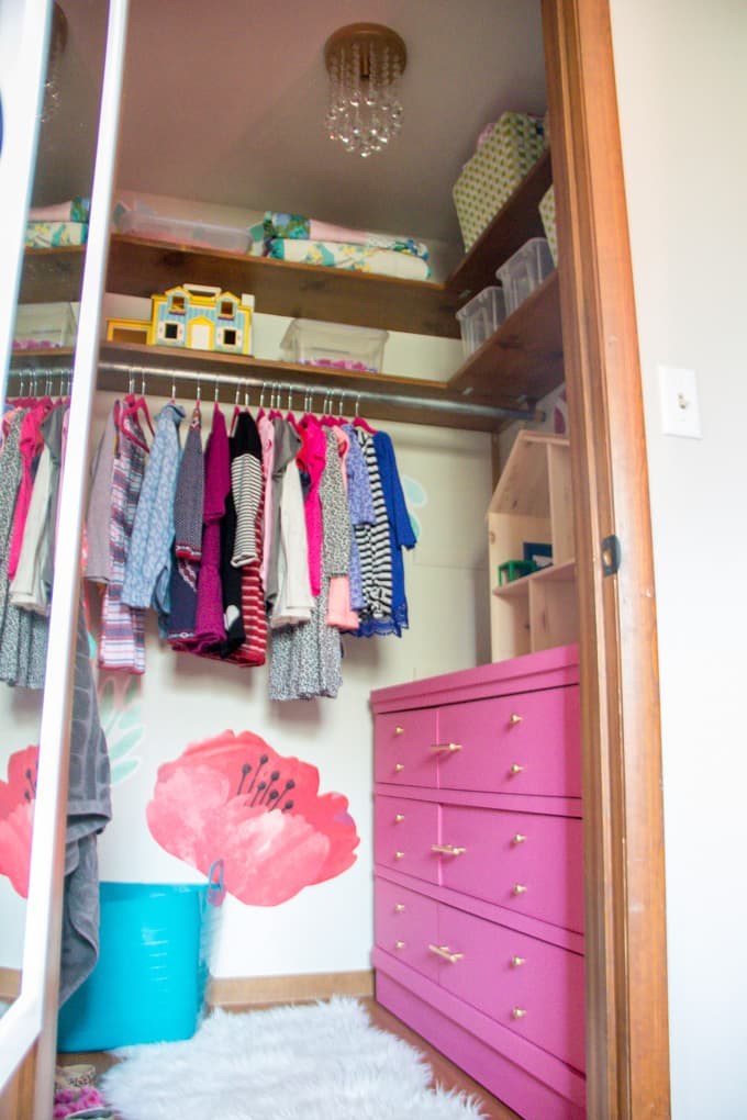 Girl's Walk In Closet