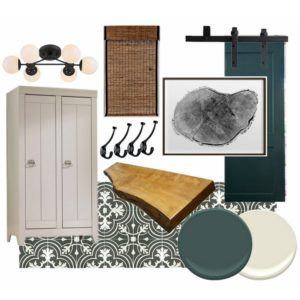 Mudroom Mood Board- One Room Challenge