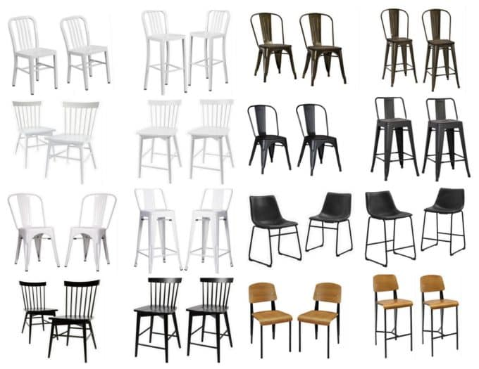 Modern Stools and Chairs that Coordinate