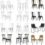 Coordinating Modern Chairs and Stools