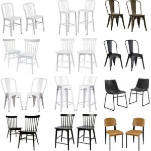 Modern Coordinating Stools and Chairs