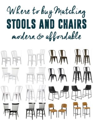 Modern Matching Stools and Chairs