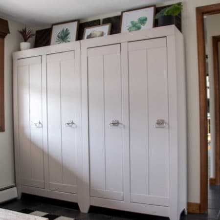 Storage Lockers for Mudroom
