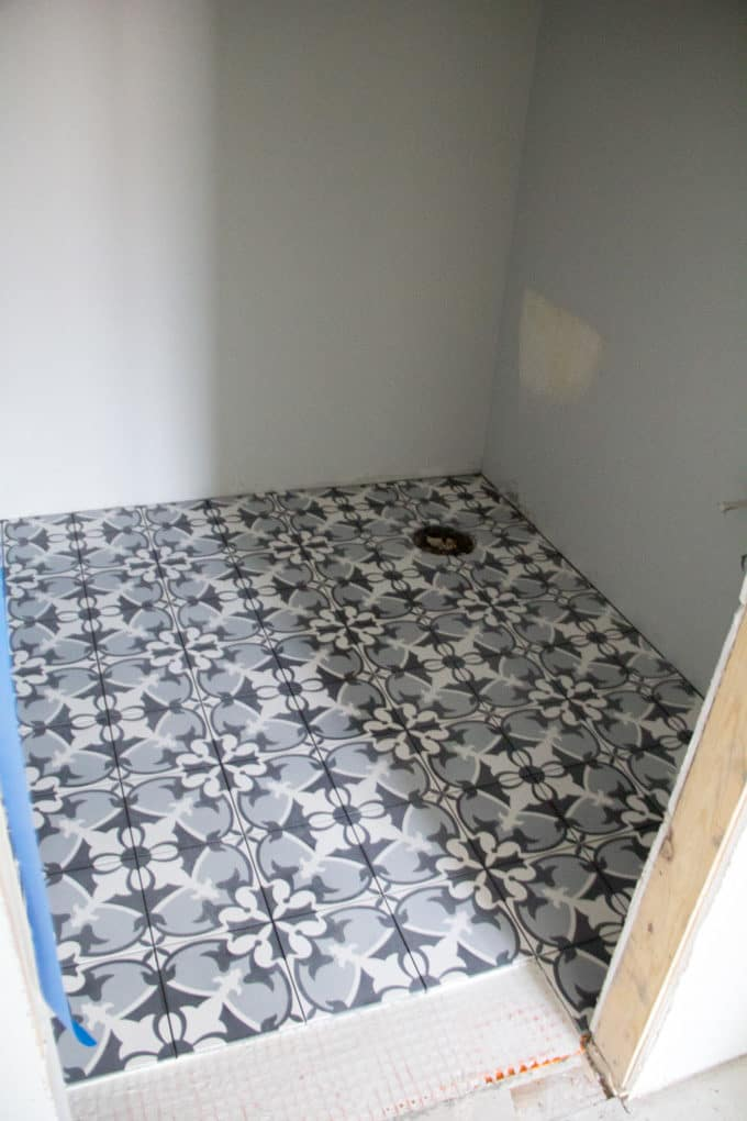 Blue Cement Tile