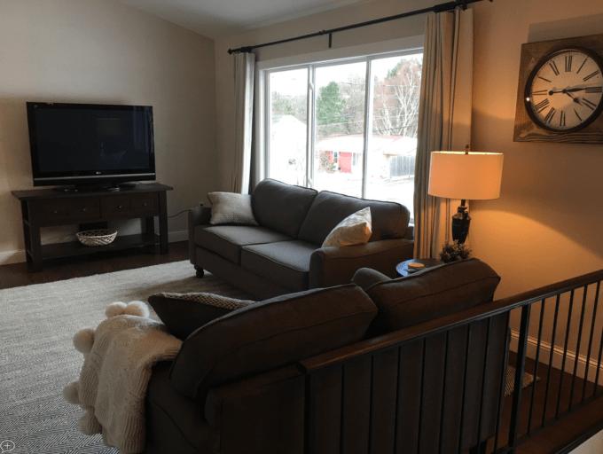 Split Level Living Room After
