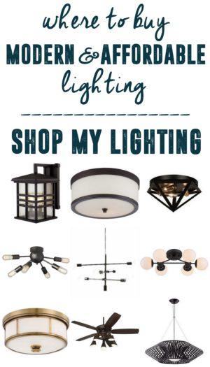 Modern Affordable Lighting