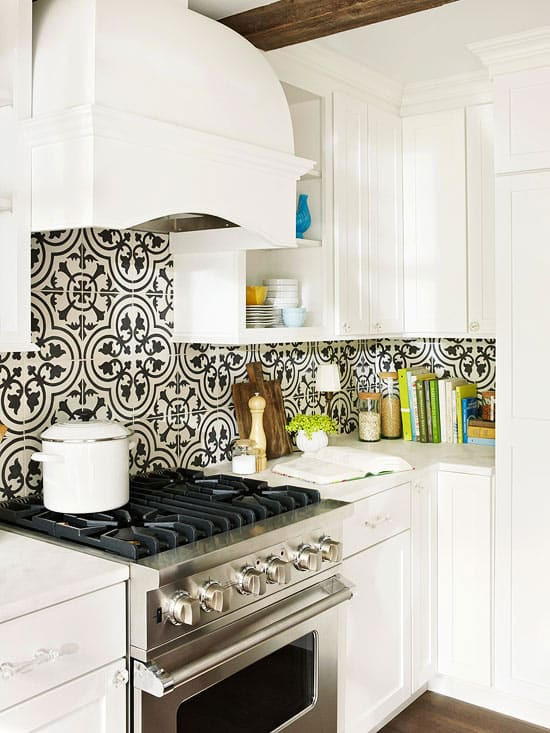 Kitchen Backsplash Cement Tile