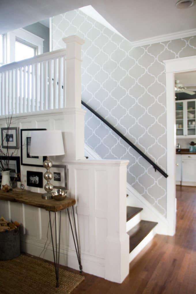 Stenciled Stairwell