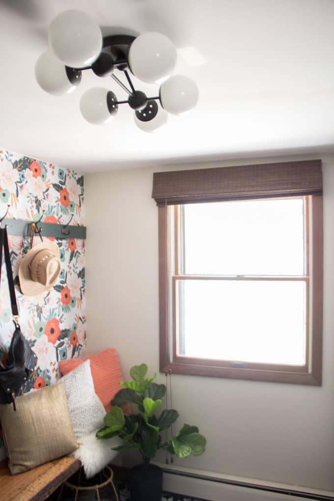 Mudroom with Modern Lighting and Blindster Blind