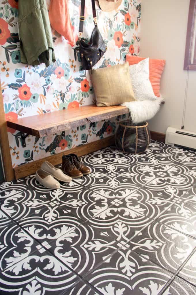 Painted Cement Tile Floor