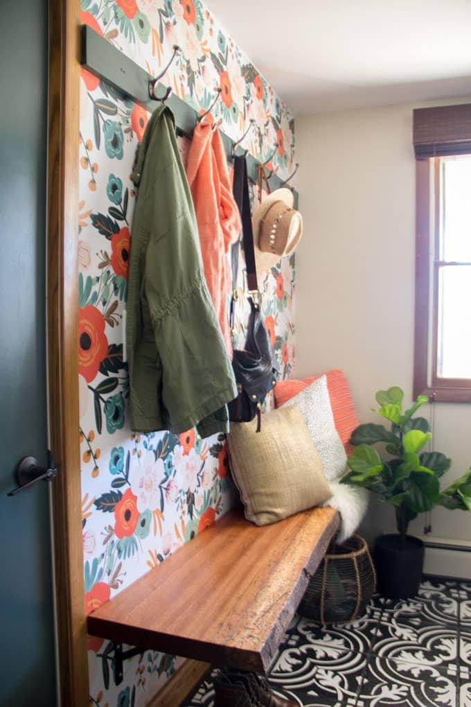 WallsNeedLove Floral Wallpaper in Mudroom