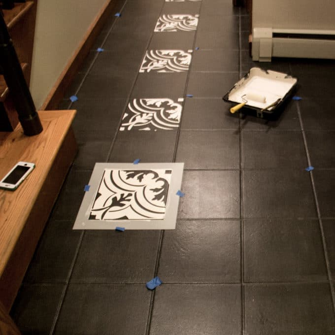 Painted Cement Tile Floors