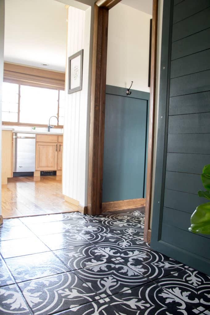 Cement Tile Hallway
