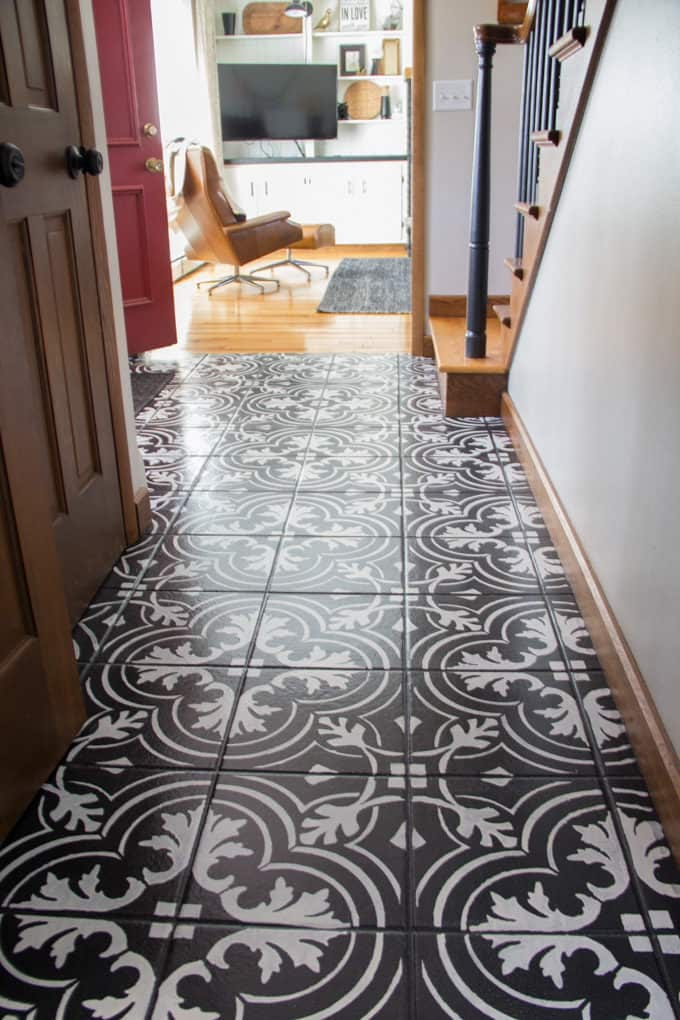 Painted Faux Cement Tile
