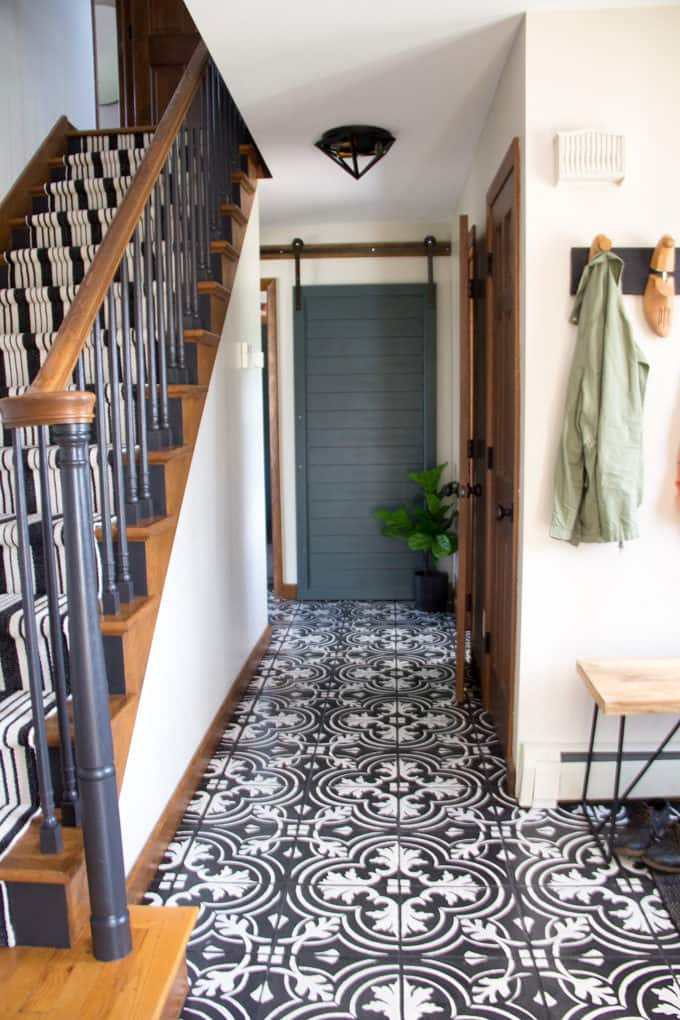 Hallway with Cement Tile