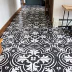 DIY Faux painted stenciled floors
