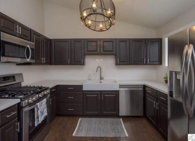 Kitchen in Flip House 70's Updated