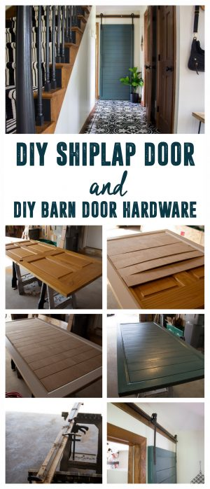 DIY Shiplap Door and DIY Barn Door Hardware