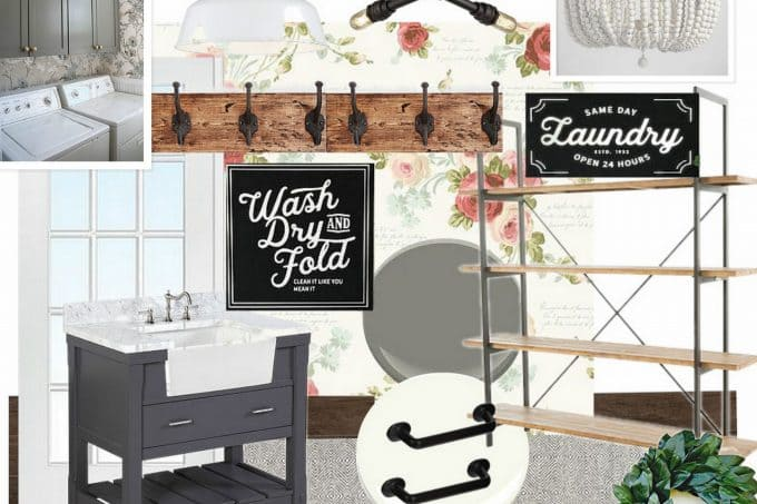 Vintage Farmhouse Laundry Room