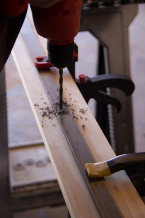 DIY Barn Door Rail