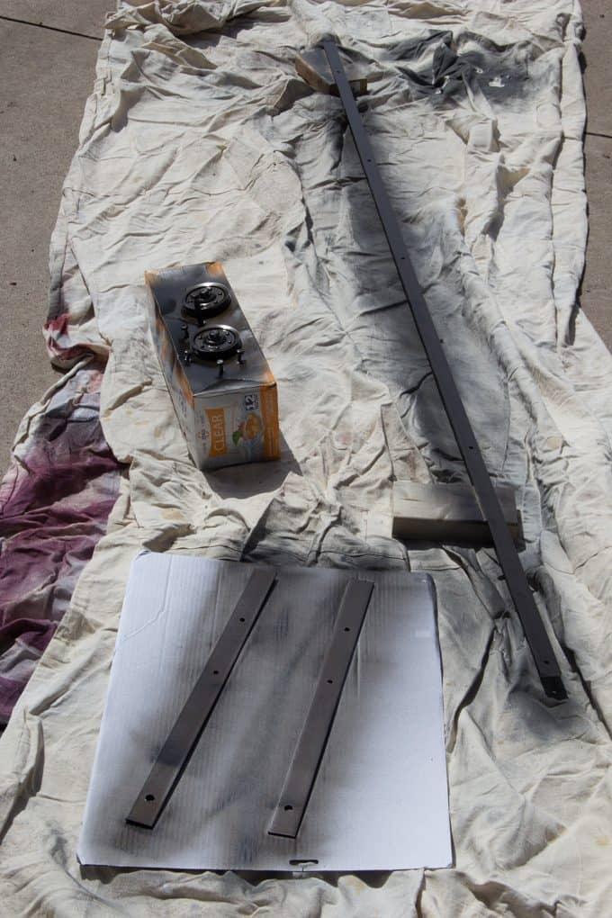 Spray Painted Rail