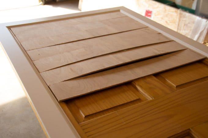 How to Put Shiplap on a Door