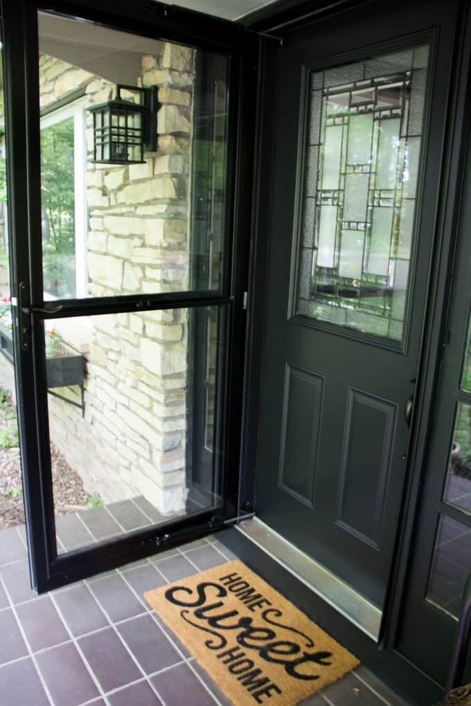 Replacing our front door and storm door bright green door for Storm door on front door