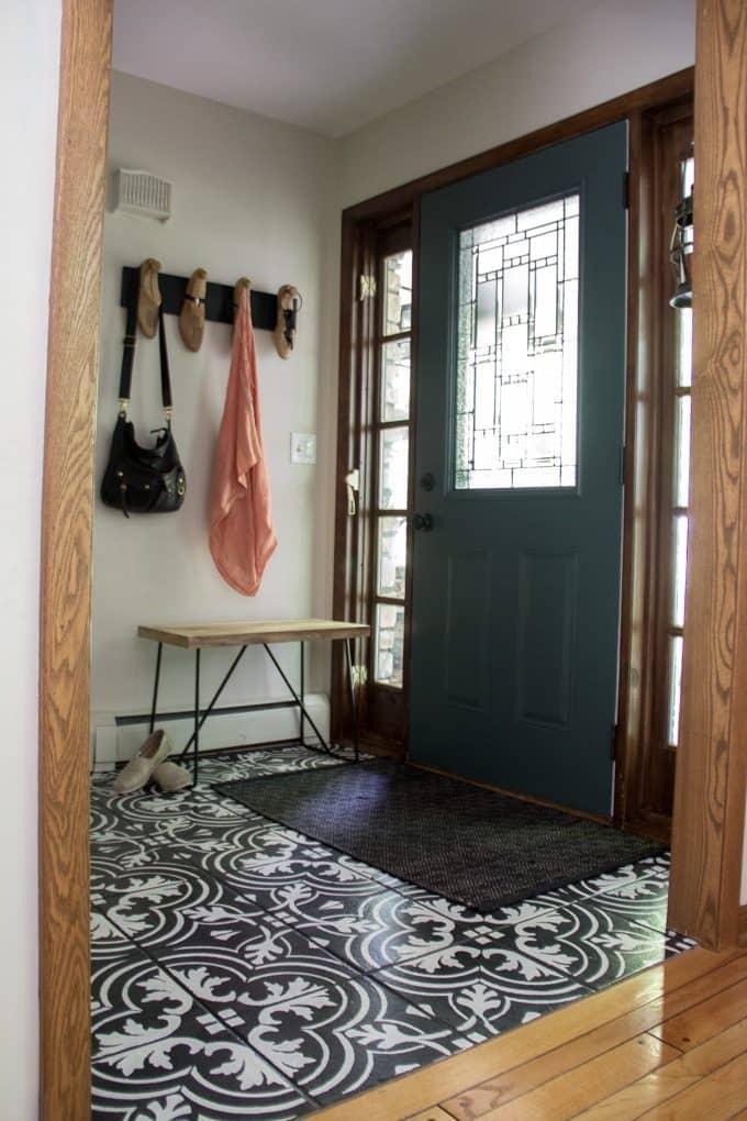 Replacing Our Front Door And Storm Door Bright Green Door