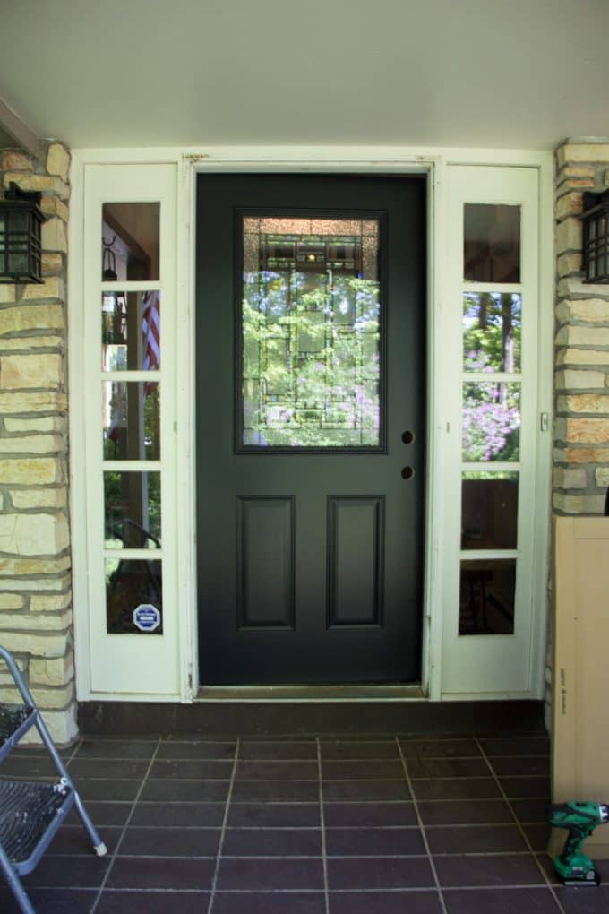 Black Painted Front Door