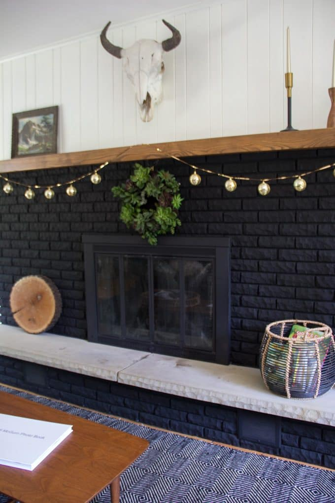 Black Painted Fireplace Surround