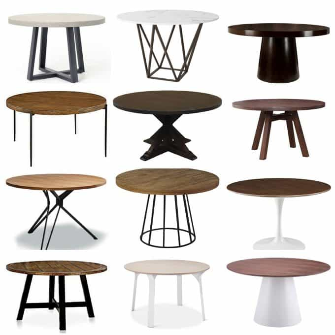 Affordable Modern Round Tables