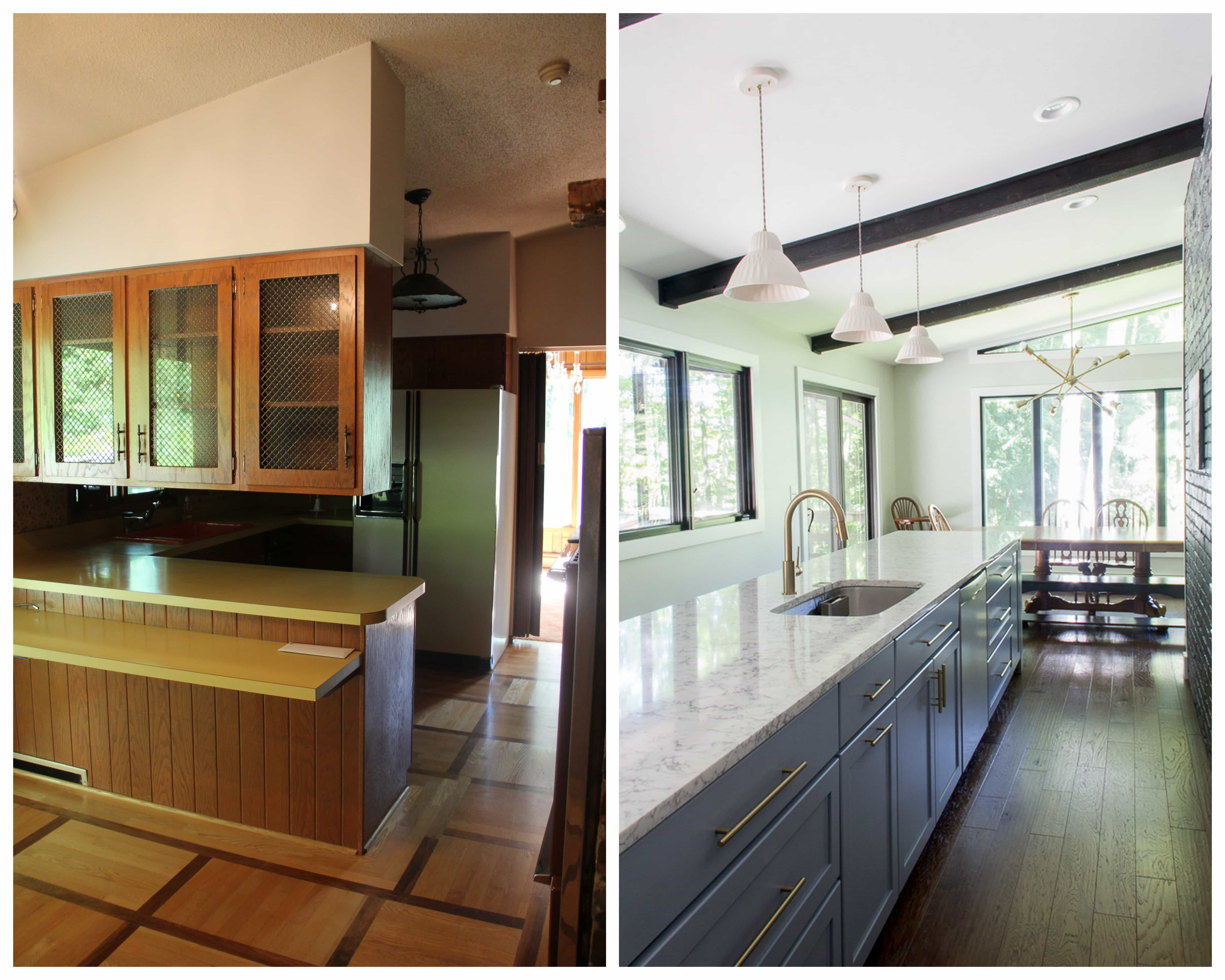 Seventies Renovation Long Kitchen Island