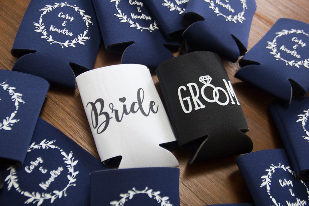 Bride and Groom Beer Coozies