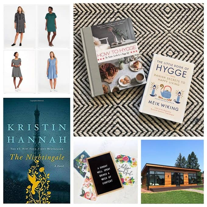 Five on Friday- Reading, Tiny Houses, Paintings and Dresses