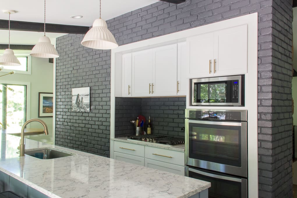 Brick Cutout in Modern Kitchen