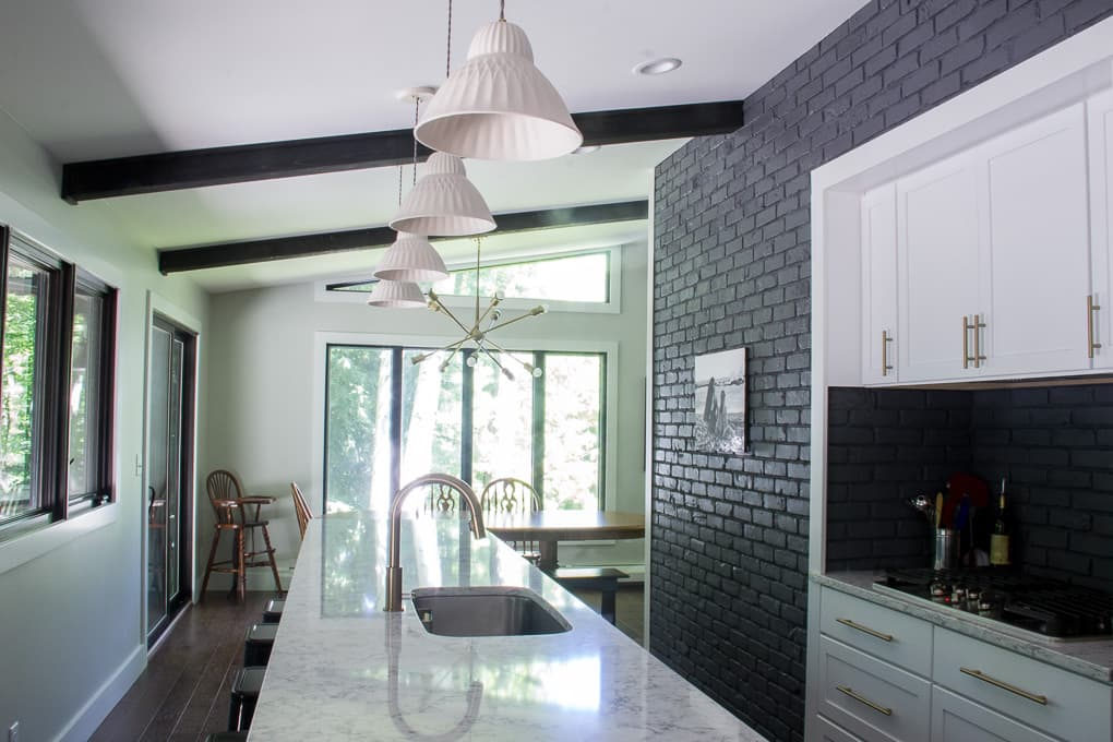 Modern Grey And White Kitchens For Modern Grey And White Kitchen With Long Island Instagram