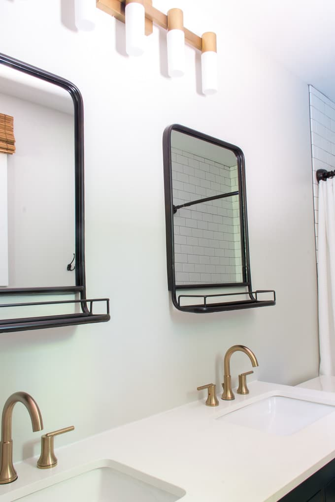 Pharmacy Mirrors in Modern Bathroom