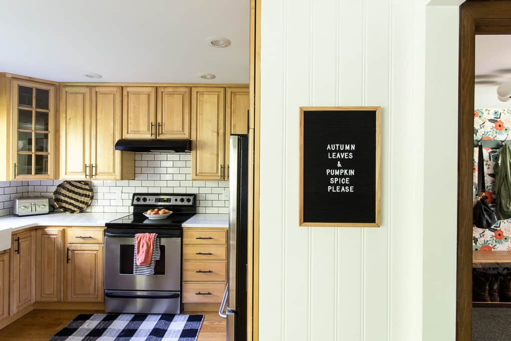 Letterboard in Kitchen