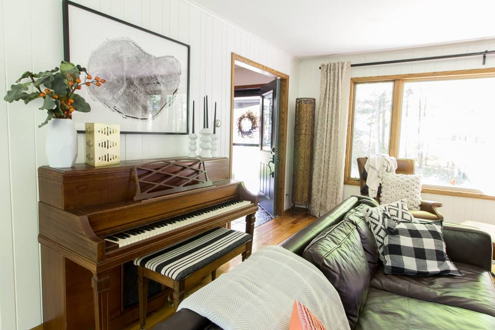Piano in Modern Living Room