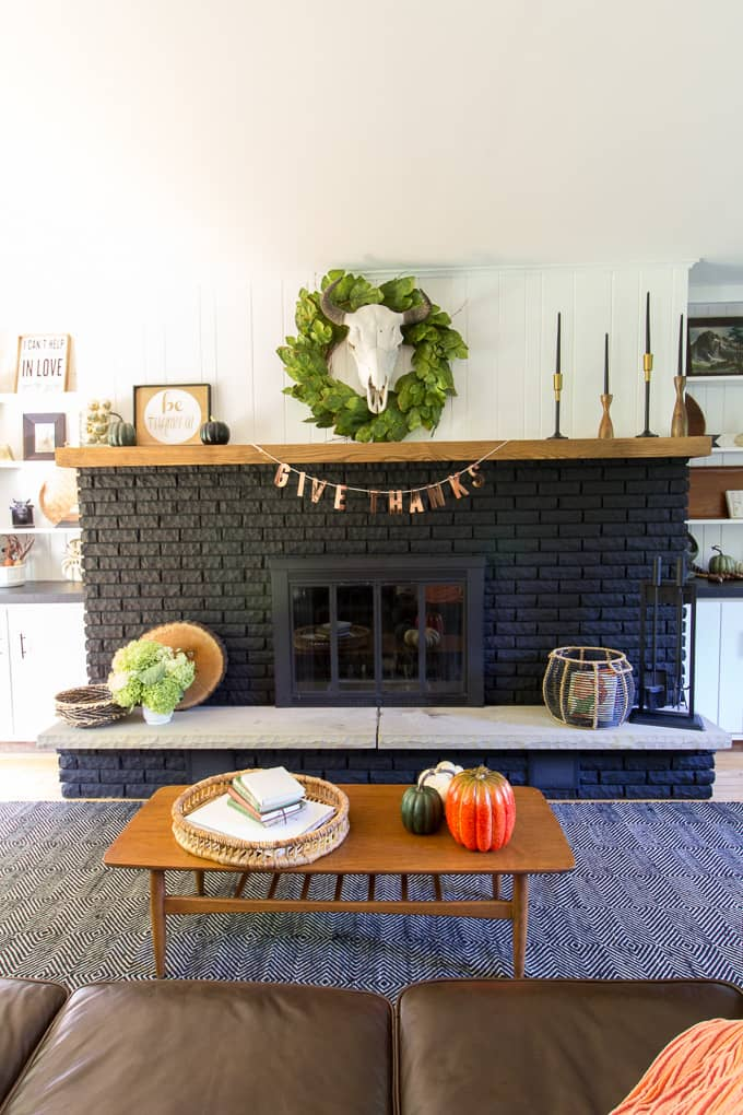 BrightGreenDoor Black Fireplace