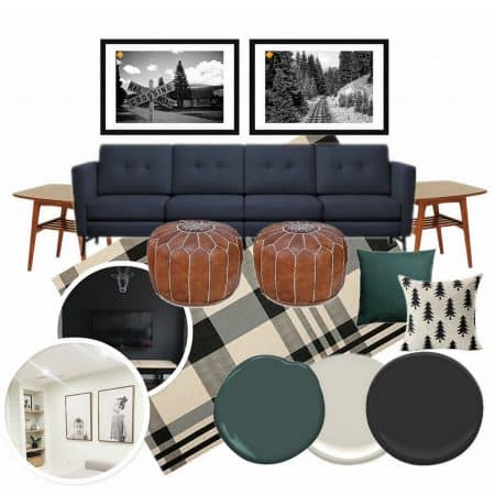 Basement Living Room Mood Board
