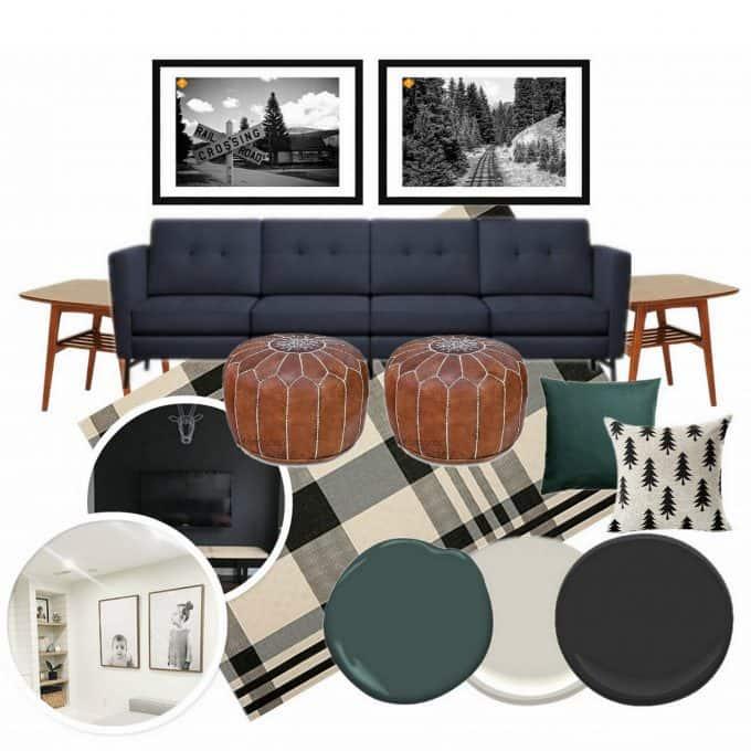 Basement Living Room Mood Board