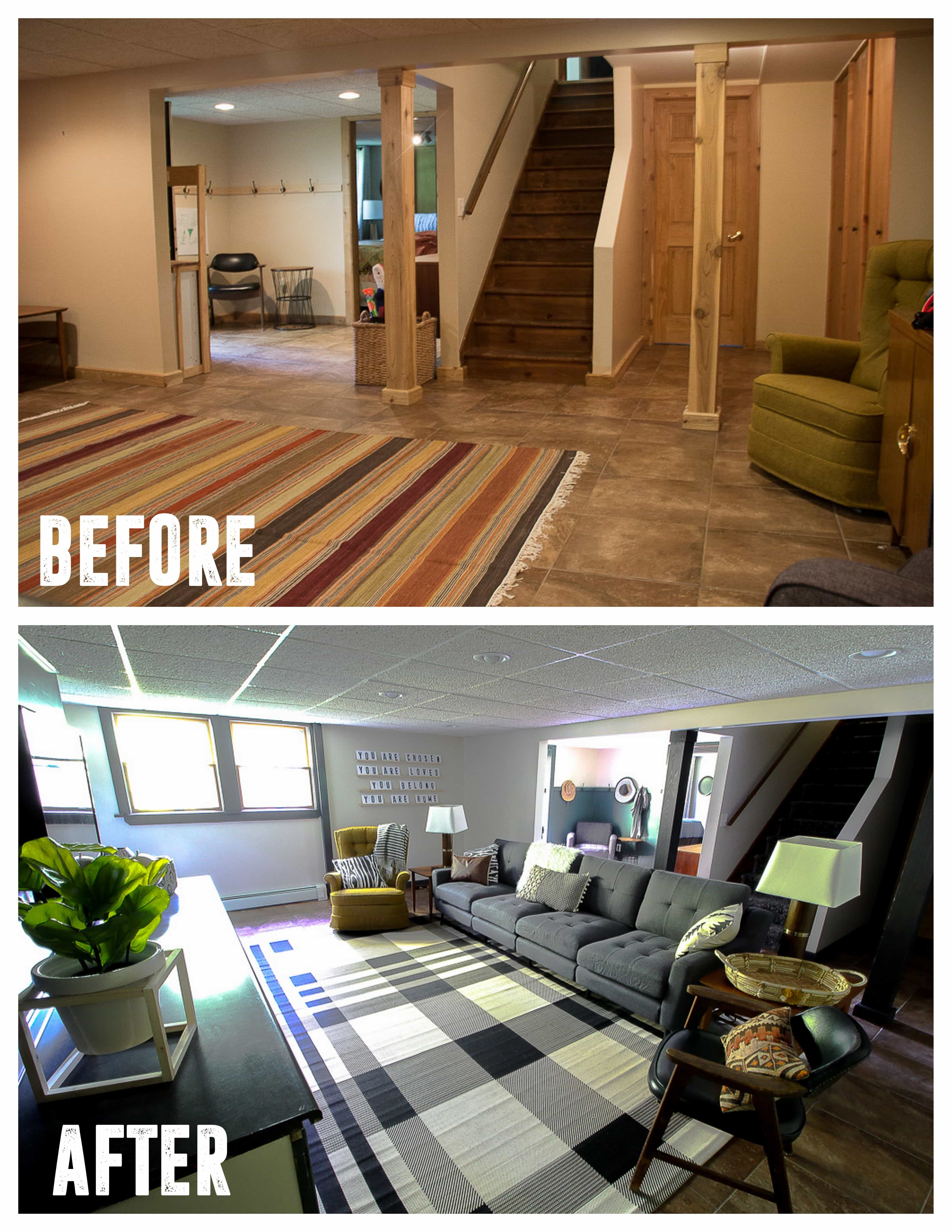 Modern Basement Makeover Reveal