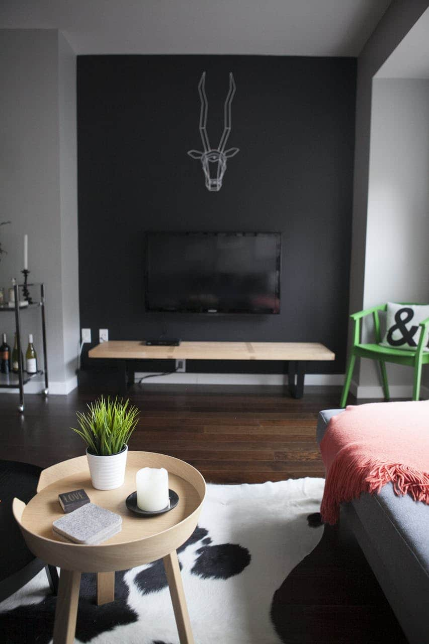 Black TV on Black Wall